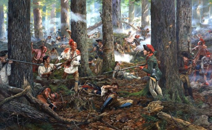 Potyczka Mohawków z Francuzami; http://mohawknationnews.com/blog/tag/french-indian-wars/